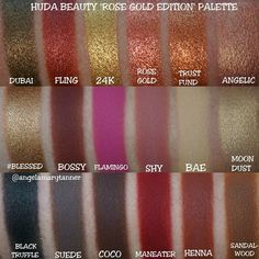 Huda Beauty Rose Gold Palette Glister Textured Shadows Palette Pallet Make Up Huda Beauty Eyeshadow, Matte Eyeshadow, Beauty Makeup, Eye Makeup, Eyeshadows, Huda Rose Gold, Huda Beauty Rose Gold Palette, Makeup Palette, Eyeshadow Palette