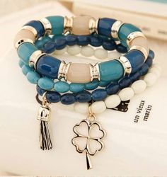 kit pulseiras - 4 pulseiras feminina - bijoux sem marca