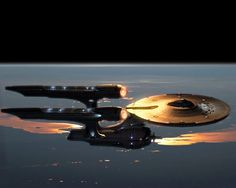 new Enterprise in low orbit