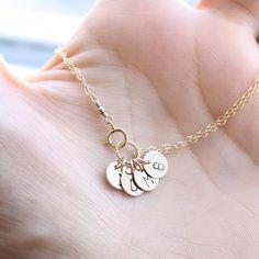 Mother's Bracelet Gold Initial Charm Bracelet  by BijouxbyMeg, $33.00