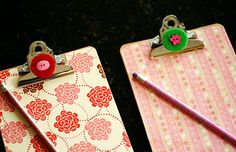Super cute DIY clipboards. Great for Christmas gifts!