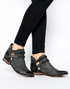 Free People Braeburn Cut Out Flat Ankle Boots