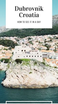 A guide to visiting the Old Town of Dubrovnik in Croatia. You can use this even if you only have one day and you will not miss any of the major sighsteeing. The Walls. Fortress Lovrijenac. Pile Gate. Onofrio's Fountains. All of the must see highlights are included in this complete itinerary. Visit Croatia, Croatia Travel, Best Travel Guides, Europe Travel Guide, European Vacation, Vacation Spots, Amazing Destinations, Travel Destinations, Dubrovnik Old Town