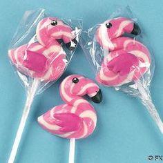 Flamingo ( Strawberry ) swirl pops