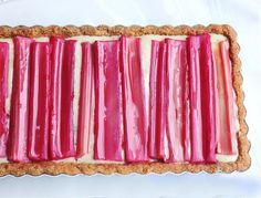 Rhubarb & Custard Tart