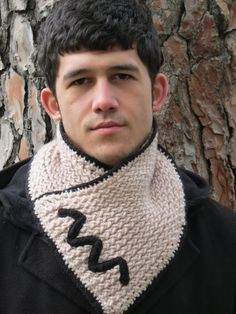 Knitted Scarf Men  Winter Scarf Mens Chunky Cowl by MenAccessory, $40.00