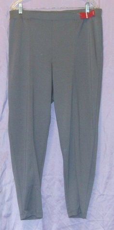 1cf770925 NWT AVENUE Gray Pull-on Poly/Rayon/Spandex Pants 18/20 #Avenue #CasualPants