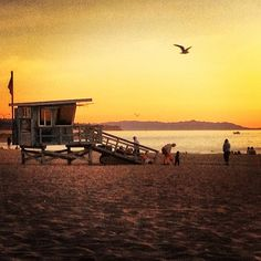 Lifeguard Station in Hermosa Beach, CA