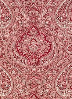 Ralph Lauren Shore Crimson paisley fabric.
