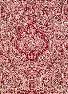 Ralph Lauren Shore Crimson paisley fabric.