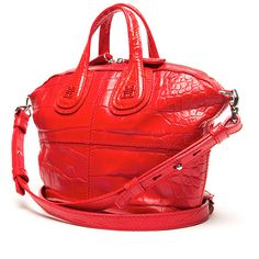 Givenchy Small Crocodile Nightingale Tote ($1,650) ❤ liked on Polyvore