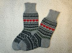 Wool hand-made socks with nice ornament pattern by LanaNere Leg Warmers, Ornament, Buy And Sell, Socks, Legs, Wool, Nice, Pattern, How To Wear