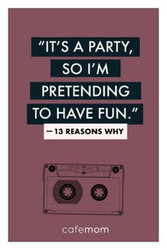 13 reasons why quotes 13 Reasons Why Poem, 13 Reasons Why Netflix, Sad Quotes, Book Quotes, Life Quotes, Inspirational Quotes, Netflix Quotes, Netflix Series, Caption Lyrics