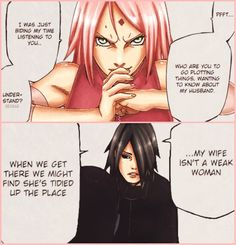 Sakura going 2 kick ass *_*   &  Sasuke trying to find her <3 <3