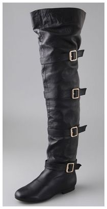 f2643a786f7c Jeffrey Campbell Lara Above the Knee Boots in black (Giuseppe Zanotti  I98020 knockoffs) Two