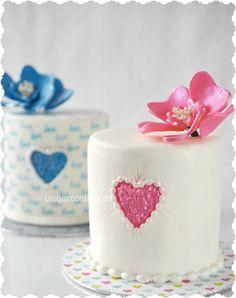 His & Hers Anniversary Red Velvet cakes.