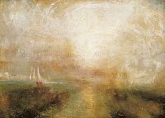 Scumbling in a painting by JMW Turner