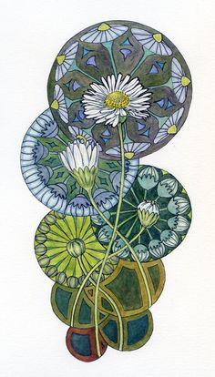 art nouveau & watercolor