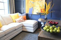 This is my front room wall color is indigo batik from - Sherwin williams foothills interior ...