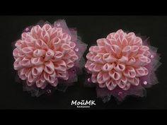 Нарядные банты из узкой ленты МК Kanzashi Tutorial DIY МойМК - YouTube