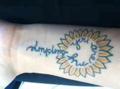 "For my mom.  It reads ""you are my sunshine"" in my mother's handwriting."