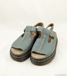 Vintage Dr. Martens Sandals Slate Blue UK 5 US 6