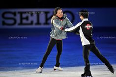 (L-R) Mao Asada, Yuzuru Hanyu (JPN),.NOVEMBER 25, 2012 - Figure Skating :.ISU Grand Prix of Figure Skating 2012/2013, NHK Trophy, practice for Gala Exhibition at Sekisui Heim Super Arena Grande21 in Miyagi, Japan. (Photo by AFLO)