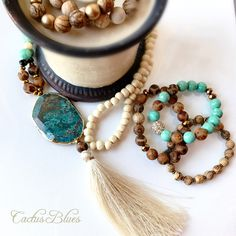 Statement necklace with matching bracelets from Cactus Blues Boutique