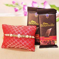 #PearlRakhi #Chocolates  #Giftaloverakhi