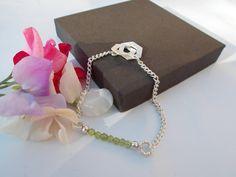 Peridot bracelet  silver plated bracelet  by KTGemstoneCreations