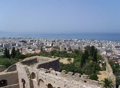 View of Patras, the regional capital of Western Greece, in northern Peloponnese from the fortress