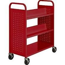 2-sided book cart!!