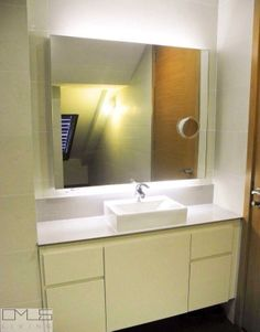 Master Bathroom Ideas   OMUS living  Note: Sink area with mirror and storage compartments