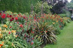 Red Border at Hidcote Manor Garden, Summer