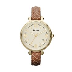 Fossil Heather Mid-Size Leather Watch – Light Brown #FossilVintageRevival