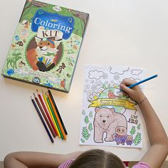Woodland Coloring Kit! Learn about environmental stewardship of animals and the earth with Ferdinand the Fox!