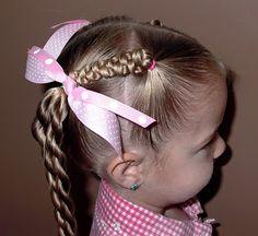 Pretty Hair is Fun – Girls Hairstyle tutorials – Little Girl's Hairstyles -Slide Up Braids with Twist Braids