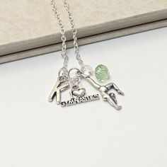 Personalized  Gymnastics Necklace with Your by InitiallyCharming