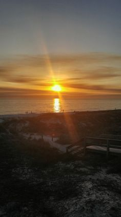 Panama City Beach sunset this evening... photo from Vanessa McClendon