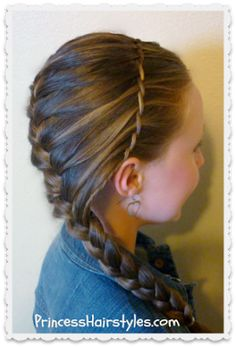 Waterfall Twist Braid Headband And French Braid princesshairstyles.com
