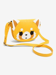There are two sides to Aggretsuko and you get both of them on this supes cute crossbody bag. The yellowish faux leather bag has an adjustable strap and a magnetic flap closure that features Aggretsuko's cute face with 3D ears. When you lift the flap, her aggro face makes it's appearance. It's the perfect size for a night out of karaoke. 100% polyurethane Imported Cute Crossbody Bags, Suitcase Bag, Cute Little Things, List Style, Cute Faces, Travel Bags, Leather Bag, Night Out, Cute Outfits