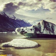 Exploring the terminal lake of New Zealand's Tasman Glacier ... http://wanderlusters.co.uk/retreating-tasman-glacier/ #travel #NewZealand  #wanderlust #photography