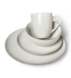 Products Stoneware Solene Round Dinnerware Set Gray/White - Project 62 Can Necklaces Mean a Pai Farmhouse Dinnerware Sets, Stoneware Dinnerware Sets, Modern Dinnerware, White Dinnerware, Tableware, Kitchenware, Neutral Dinnerware, Everyday Dishes, White Dishes