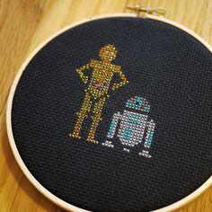 C3PO and R2D2 Cross Stitch