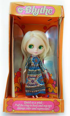 NEAR MINT IN BOX KENNER BLONDE BLYTHE 1972 Vintage Doll