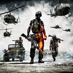 Battlefield Bad Company 2 Vietnam Army Tattoos Military Games
