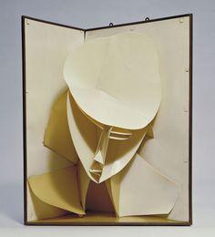 Giant pop up book Sculpture Head, Cardboard Sculpture, Abstract Sculpture, Paper Sculptures, Kirigami, Giuseppe Penone, Pochette Cd, Collage Kunst, Russian Constructivism