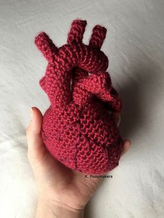 Ravelry: Crocheted Anatomical Human Heart pattern by Kyla Raaymakers
