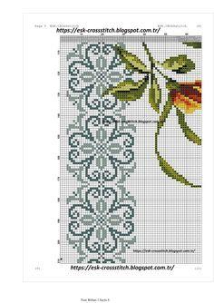 Cross Stitch Borders, Cross Stitching, Cross Stitch Patterns, Yellow Roses, Purple Flowers, Lilies Flowers, Exotic Flowers, Flowers Garden, Pink Roses