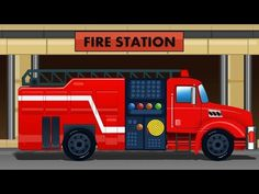 Fire Truck   Fire Engine   Kids Videos   Fire Station   Compilation For Kids - YouTube